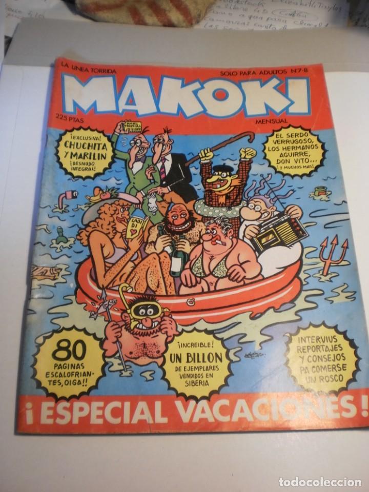 MAKOKI Nº 7-8. SÓLO PARA ADULTOS. NÚMERO DOBLE. ESPECIAL VACACIONES (ESTADO NORMAL) (Tebeos y Comics - La Cúpula - Autores Españoles)