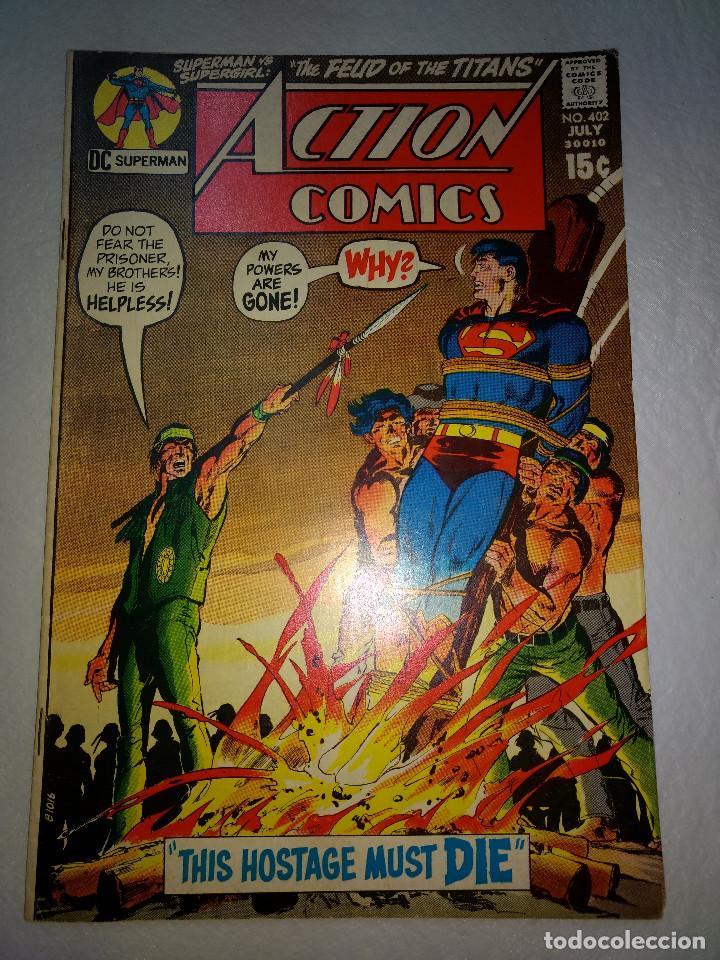 ACTION COMICS 402 - 1971 15Ç - SUPERMAN - DC COMICS - ORIGINAL (Tebeos y Comics - La Cúpula - Comic USA)