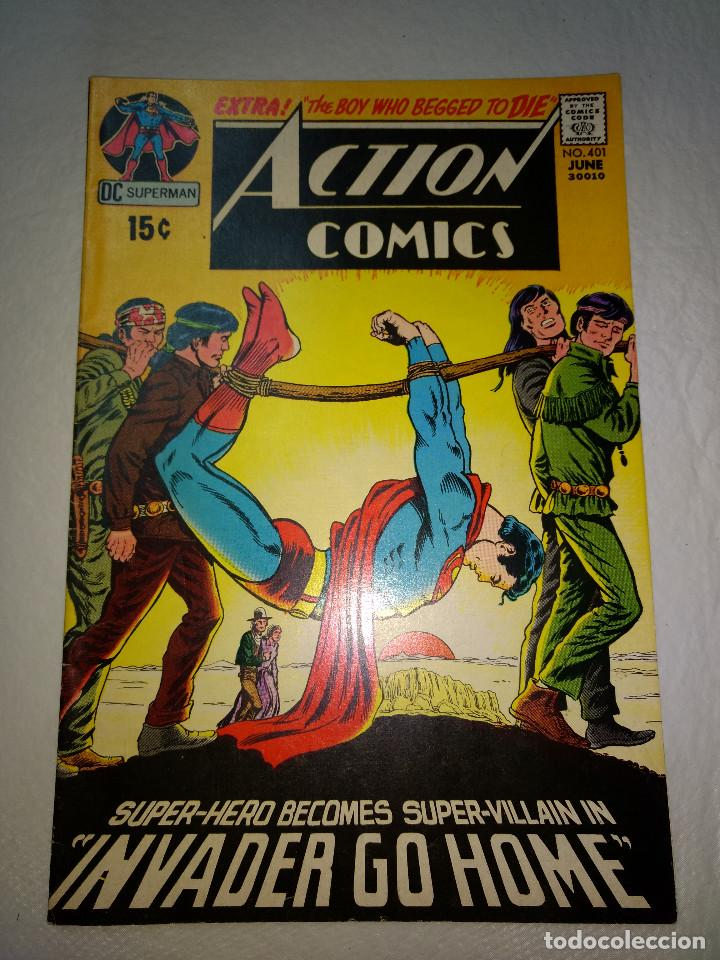 ACTION COMICS 401 - 1971 15Ç - SUPERMAN - DC COMICS - ORIGINAL (Tebeos y Comics - La Cúpula - Comic USA)