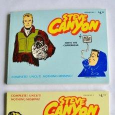 Cómics: MILTON CANIFF. STEVE CANYON. VOLUME I & VOLUME II. COMIC ART PUBLISHING CO. 1977. COMIC AMERICANO. Lote 199127527