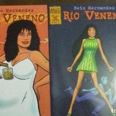 Cómics: RIO VENENO NºS 2 Y 4 DE 4 - BRUT COMIX. Lote 204143900