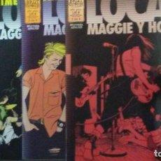 Cómics: LOCAS MAGGIE Y HOPEY NºS 1,3 Y 6 DE 6 - JAIME HERNANDEZ - BRUT COMIX. Lote 204146402