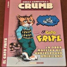 Cómics: EL GATO FRITZ (OBRAS COMPLETAS CRUMB Nº 5) (3ª ED.) ROBERT CRUMB. Lote 206468738