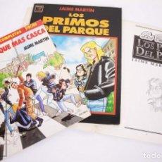 Cómics: CONJUNTO DE 3 CÓMICS CON DIBUJOS DEDICADOS DE JAIME MARTÍN - EL VÍBORA / COMIX - LA CÚPULA. Lote 206883783