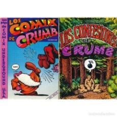 Comics : LOS COMIX DE CRUMB + LAS CONFESIONES DE CRUMB.. Lote 207140772