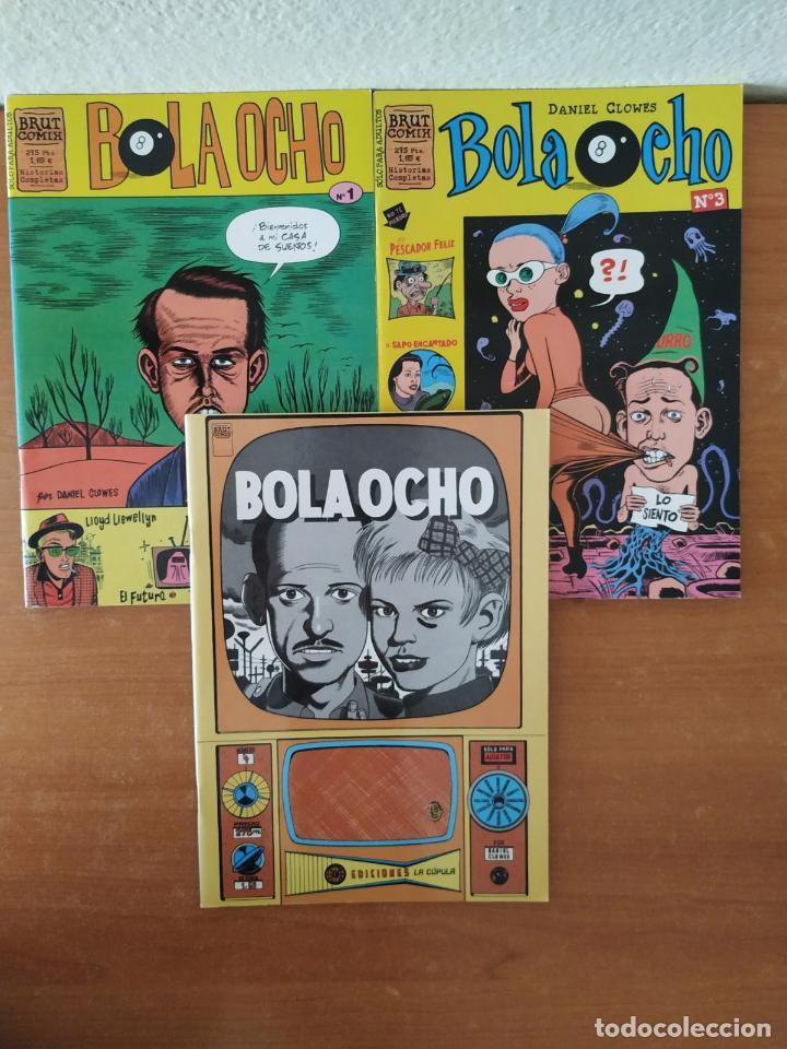 LOTE DE 3 COMICS BOLA 8. DANIEL CLOWES. EDICIONES LA CÚPULA. Nº 1, 3, 4. (Tebeos y Comics - La Cúpula - Comic USA)