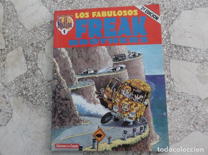 LOS FABULOSOS FREAK BROTHERS, Nº 1, GILBERT SHELTON, EDICIONES LA CUPULA, B/ N, (Tebeos y Comics - La Cúpula - Comic Europeo)
