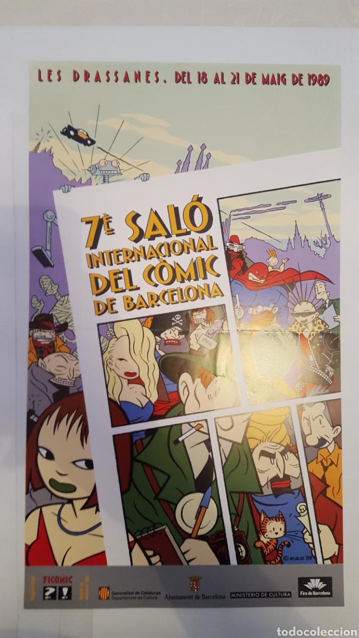 POSTER- CARTEL - MAX - DEL 7 SALO (SALON) INTERNACIONAL DEL COMIC BARCELONA - 1989 (Tebeos y Comics - La Cúpula - El Víbora)