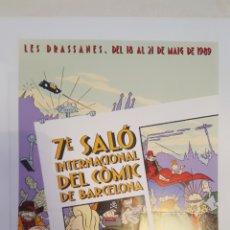 Cómics: POSTER- CARTEL - MAX - DEL 7 SALO (SALON) INTERNACIONAL DEL COMIC BARCELONA - 1989. Lote 214113173