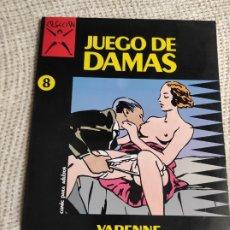 Comics: JUEGO DE DAMAS, COLECCION X Nº 8 /POR: VARENNE - COMIC EROTICO - EDITA : EDICIONES LA CUPULA NUEVO. Lote 214199801