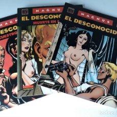 Comics : EL DESCONOCIDO - OBRA COMPLETA EN 3 TOMOS - MAGNUS. Lote 217999670