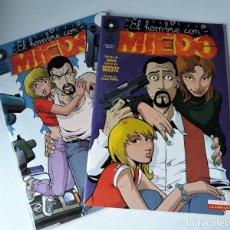 Cómics: EL HOMBRE CON MIEDO 2 NÚMEROS ¡¡COMPLETA!! - HERNÁN MIGOYA / MAN. Lote 218021367