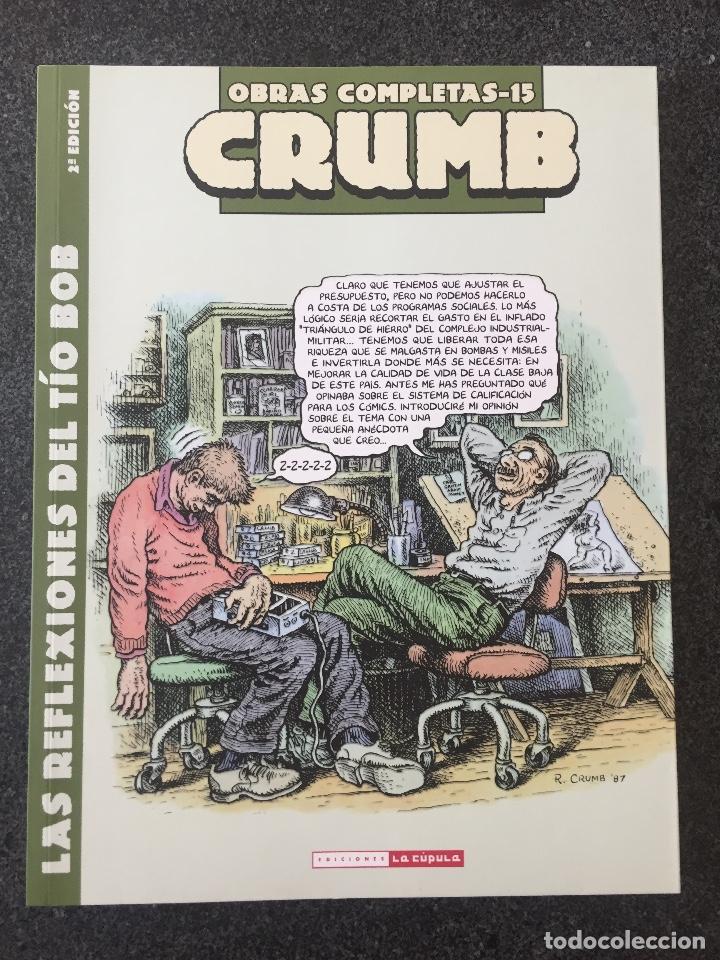 LAS REFLEXIONES DEL TÍO BOB - CRUMB - OBRAS COMPLETAS 15 - 2ª EDICIÓN - LA CÚPULA - 2011 - ¡NUEVO! (Tebeos y Comics - La Cúpula - Comic USA)