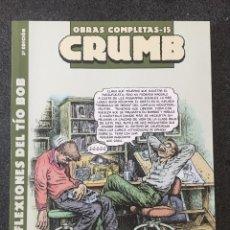 Comics : LAS REFLEXIONES DEL TÍO BOB - CRUMB - OBRAS COMPLETAS 15 - 2ª EDICIÓN - LA CÚPULA - 2011 - ¡NUEVO!. Lote 219970190