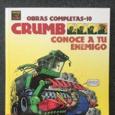 Comics : CONOCE A TU ENEMIGO - CRUMB - OBRAS COMPLETAS 10 - 1ª EDICIÓN - LA CÚPULA - 2002 - ¡NUEVO!. Lote 219974270