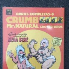 Comics : MR.NATURAL LOS MISTERIOS - CRUMB - OBRAS COMPLETAS 8 - 1ª EDICIÓN - LA CÚPULA - 2000 - ¡PRECINTADO!. Lote 219975457