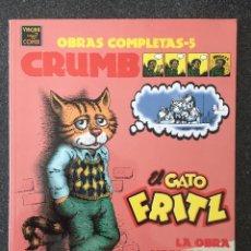 Comics : EL GATO FRITZ - CRUMB - OBRAS COMPLETAS 5 - 1ª EDICIÓN - LA CÚPULA - 1996 - ¡NUEVO!. Lote 219977345