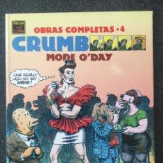 Comics : MODE O'DAY - CRUMB - OBRAS COMPLETAS 4 - 1ª EDICIÓN - LA CÚPULA - 1991 - ¡NUEVO!. Lote 220063262