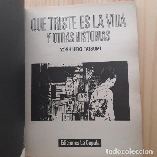 Cómics: QUE TRISTE ES LA VIDA Y OTRAS HISTORIAS. EL VÍBORA - EDICIONES LA CÚPULA - Foto 4 - 221678933