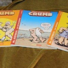Cómics: CRUMB, OBRAS COMPLETAS, TOMOS 6, 7 Y 8, M. NATURAL, 22 X 28 CM. Lote 222694371