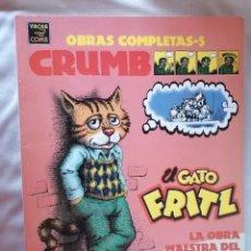 Comics : CRUMB * EL GATO FRITZ * OBRAS COMPLETAS 5 * ED. LA CUPULA * VIVORA COMICS 1996 * MBE. Lote 223014547