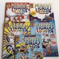 Cómics: MUNDO IDIOTA-PETER BAGGE- Nº1-5. Lote 227464700
