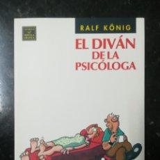 Cómics: EL DIVÁN DE LA PSICÓLOGA. RALF KONIG. LA CÚPULA. Lote 230630570