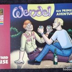 Cómics: WENDEL - SUS PRIMERAS AVENTURAS (HOWARD CRUSE) TEMÁTICA LGTB - LA CÚPULA 2005 ''EXCELENTE ESTADO''. Lote 231846460
