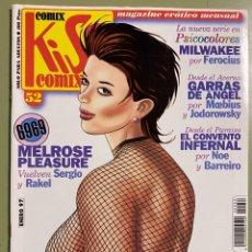 Comics : COMIC EROTICO KISS COMIX Nº 52 - SOLO PARA ADULTOS. Lote 232490025
