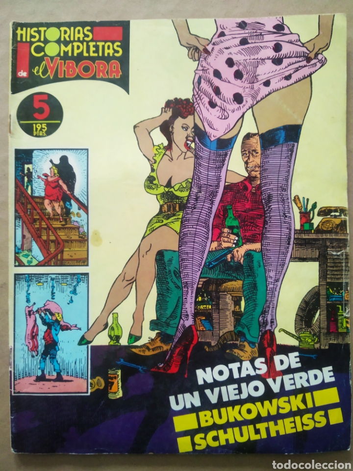 HISTORIAS COMPLETAS DE EL VÍBORA N°5: NOTAS DE UN VIEJO VERDE. BUKOWSKI Y SCHULTHEISS (LA CÚPULA). (Tebeos y Comics - La Cúpula - El Víbora)