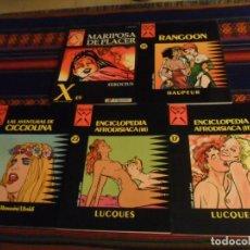 Cómics: COLECCIÓN X 17 22 COLECCIÓN AFRODISIACA II III 24 LAS AVENTURAS DE CICCIOLINA 25 RANGOON 49 MARIPOSA. Lote 236865835