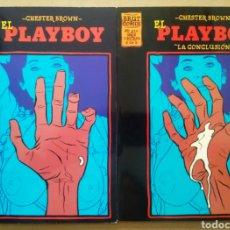 Cómics: LOTE EL PLAYBOY, DE CHESTER BROWN (LA CÚPULA, 1995). SERIE LIMITADA COMPLETA, Nº1-2. BRUT CÓMIX.. Lote 237140815
