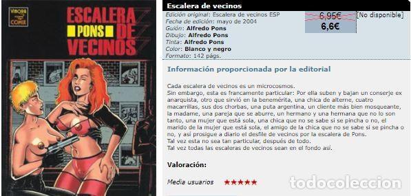 Cómics: Alfredo Pons – ESCALERA DE VECINOS – LA CÚPULA 1ª edición año 2004 – NUEVO (precintado) - Foto 2 - 240151310