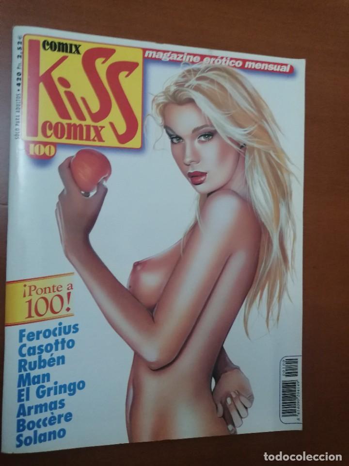 KISS COMIZ Nº 100 ** MAGAZINE EROTICO MENSUAL ** LA CUPULA ** MBE (Tebeos y Comics - La Cúpula - Autores Españoles)