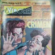 Cómics: EL VÍBORA ESPECIAL CRIMEN. Lote 243839890
