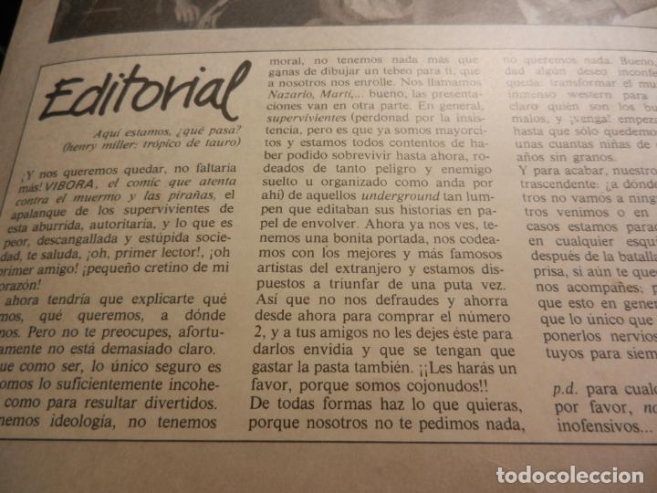 Cómics: EL VIBORA Nº 1 COMIC PARA ADULTOS - EDITADO EN 1979- 1ª EDICIÓN. - Foto 3 - 178801862
