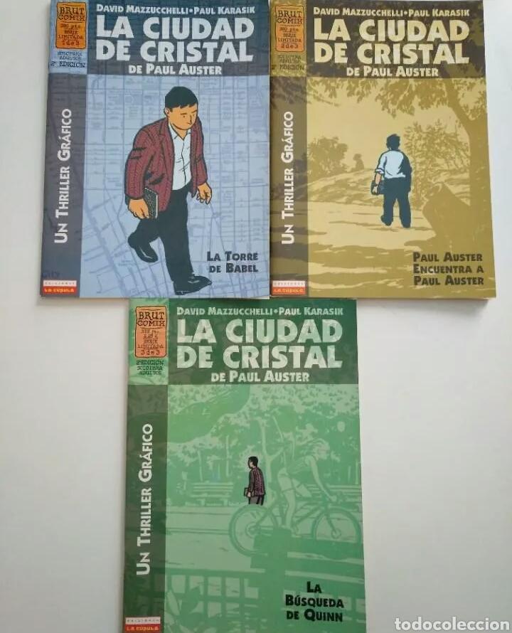 LA CIUDAD DE CRISTAL OBRA COMPLETA. 3 NÚMEROS. LA CÚPULA. DAVID MAZZUCCHELLI ,KARASIK, PAUL AUSTER (Tebeos y Comics - La Cúpula - Comic USA)