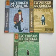 Comics : LA CIUDAD DE CRISTAL OBRA COMPLETA. 3 NÚMEROS. LA CÚPULA. DAVID MAZZUCCHELLI ,KARASIK, PAUL AUSTER. Lote 251454130