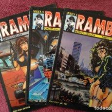 Cómics: LOTE RAMBA 1 - 2 - 3 - LA CUPULA SERIES X - DELIZIA VALDAMBRINI. Lote 252420370
