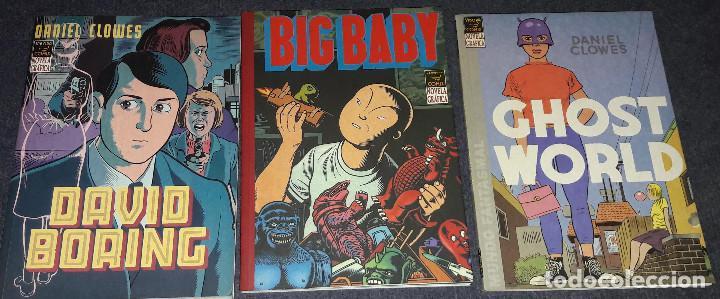 LOTE DE 3 COMICS GHOST WORLD + BIG BABY + DAVID BORING NOVELA GRAFICA EDICIONES LA CUPULA (Tebeos y Comics - La Cúpula - Comic USA)