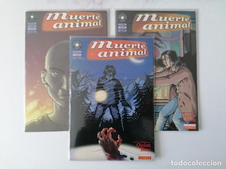 MUERTE ANIMAL - COLECCION COMPLETA DE 3 NUMEROS - QUIM BOU - EDICIONES LA CUPULA - PERFECTO ESTADO (Tebeos y Comics - La Cúpula - Autores Españoles)