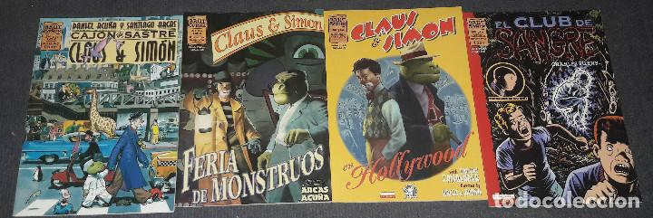 LOTE DE 4 COMICS EL CLUB DE SANGRE + CLAUS & SIMON BRUT COMIX ARCAS Y ACUÑA. CHARLES BURNS (Tebeos y Comics - La Cúpula - Comic Europeo)