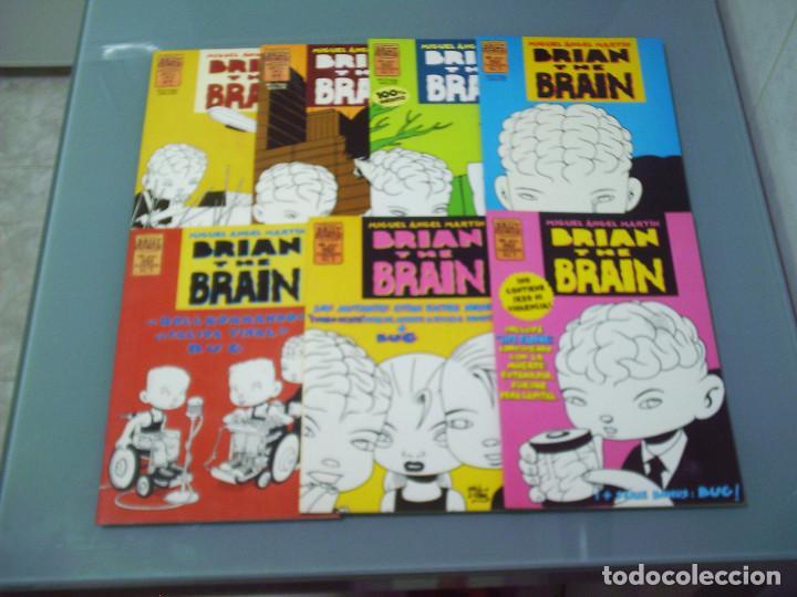 BRIAN THE BRAIN 1 2 3 4 5 6 7 - MIGUEL ANGEL MARTÍN. (Tebeos y Comics - La Cúpula - Autores Españoles)