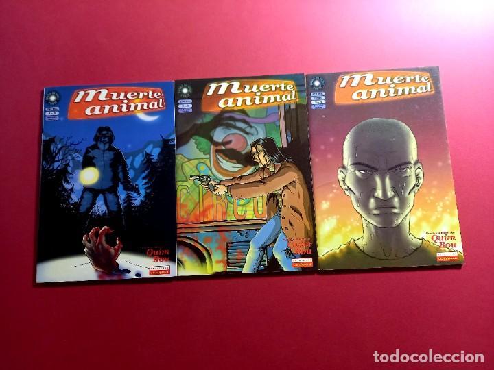 MUERTE ANIMAL 1 AL 3 - COMPLETA - QUIM BOU-IMPECABLE ESTADO (Tebeos y Comics - La Cúpula - Autores Españoles)