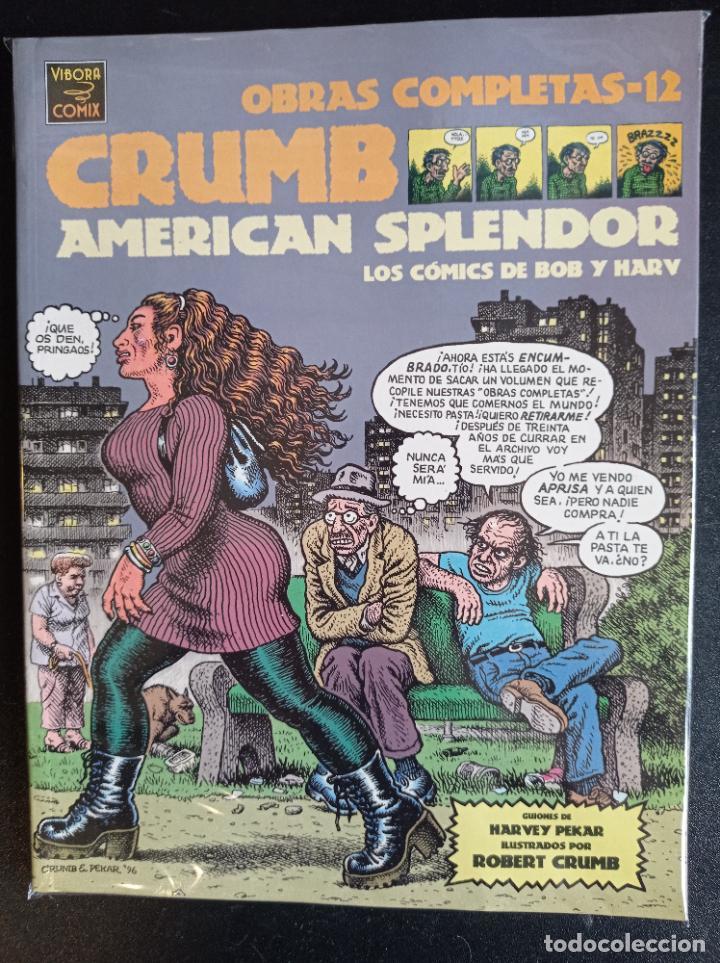 OBRAS COMPLETAS 12 CRUMB AMERICAN SPLENDOR (Tebeos y Comics - La Cúpula - Comic USA)
