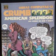 Fumetti: OBRAS COMPLETAS 12 CRUMB AMERICAN SPLENDOR. Lote 260111030