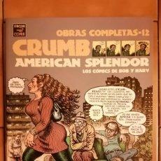 Comics : OBRAS COMPLETAS ROBERT CRUMB 12 - AMERICAN ESPLENDOR - CON HARVEY PEKAR - LA CUPULA. Lote 260409550