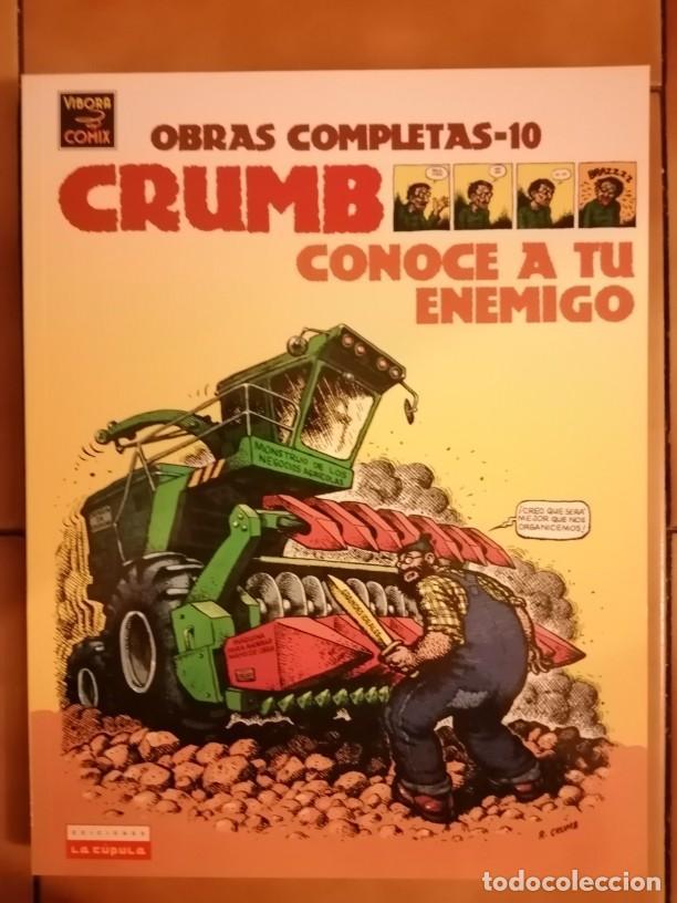 OBRAS COMPLETAS ROBERT CRUMB 10 - CONOCE A TU ENEMIGO - LA CUPULA (Tebeos y Comics - La Cúpula - Comic USA)