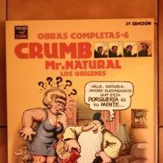 Comics : OBRAS COMPLETAS ROBERT CRUMB 6 - MR. NATURAL LOS ORIGENES 2ª EDICION 2001- LA CUPULA. Lote 260411935