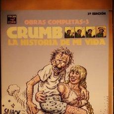 Comics : OBRAS COMPLETAS ROBERT CRUMB 3 - LA HISTORIA DE MI VIDA 3ª EDICION 2004- LA CUPULA. Lote 260412360